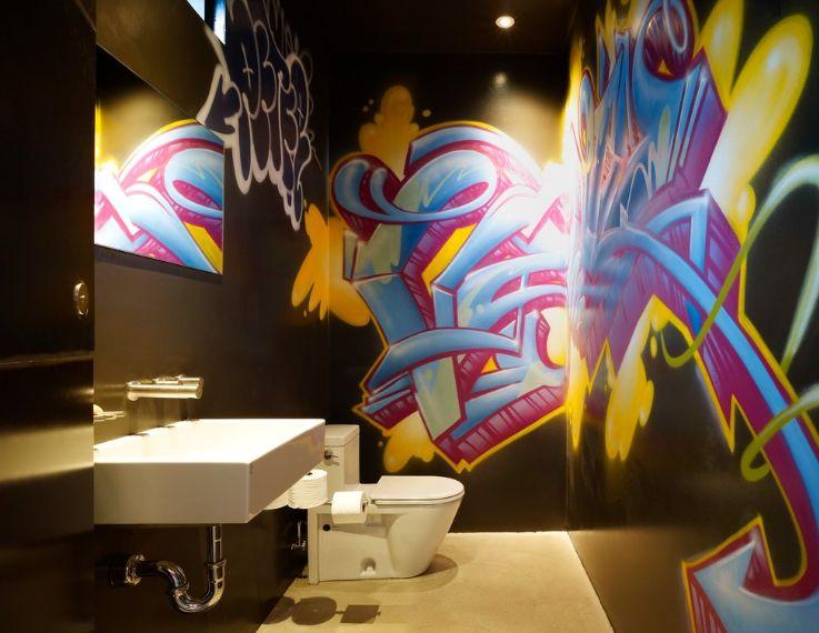 Граффити как элемент интерьера