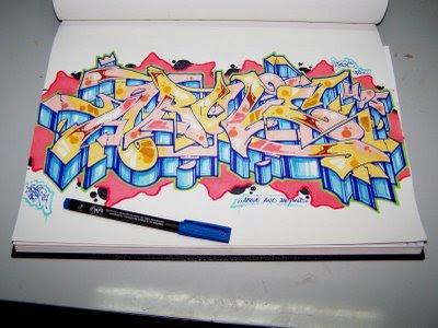 Картинки граффити для начинающих на бумаге карандашом